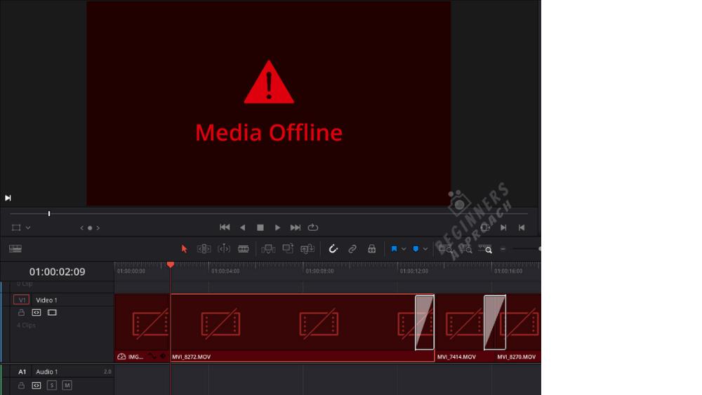 Media Offline Unlinked Clips DaVinci Resolve