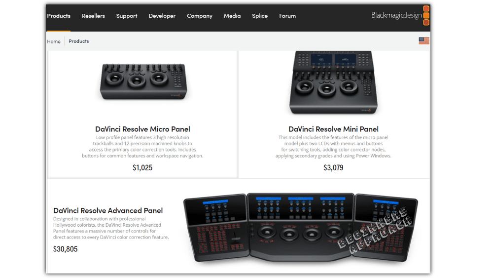 hardware panels like DaVinci Resolve Micro, Mini, or Advanced panels.
