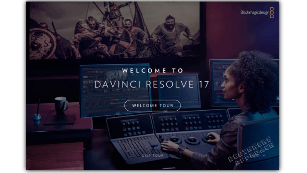 DaVinci Resolve 17 Welcome tour